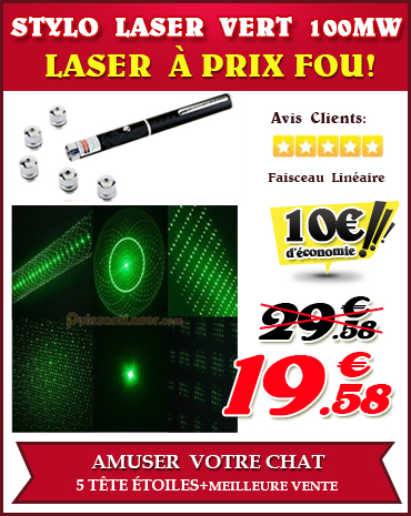 acheter laser vert 100mw faisceau étoile