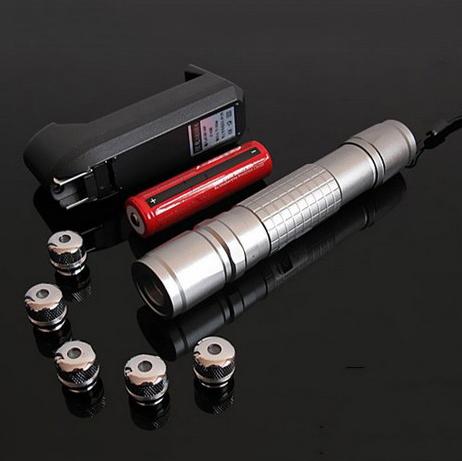 Pointeur Laser Vert 300mw Avec Têtes A Motifs
