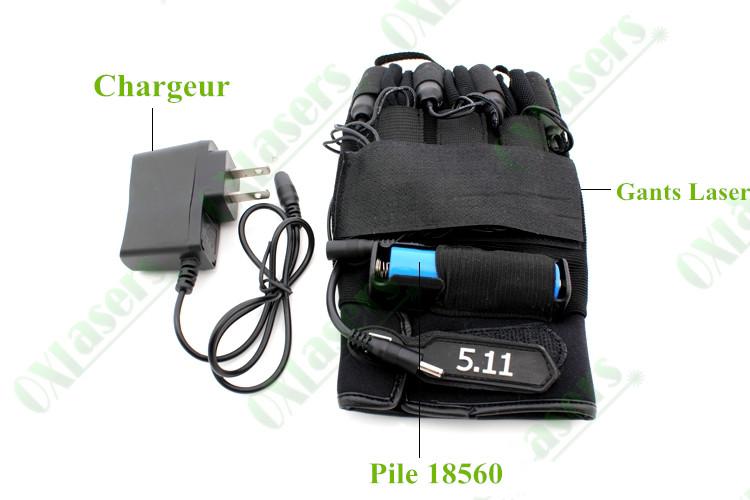 gants laser vert 30mw